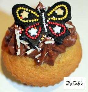 cupcake choco dans Cupcakes avec décoration à la mascarpone 030b-288x300