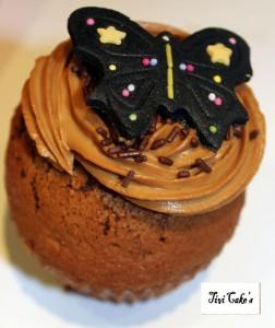 cupcake café dans Cupcakes avec décoration à la mascarpone 037b-252x300